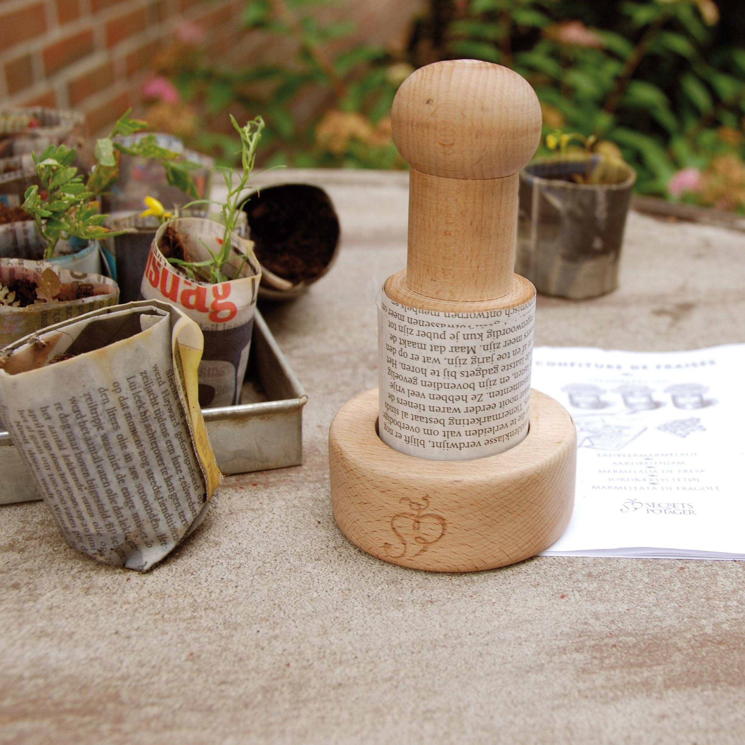 Papiertopf-Presse Esschert Design Aussaat Anzuchttöpfe Saattöpfe Paper Potter