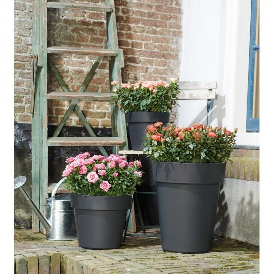 Elho Pflanzkübel Green Basics Top Planter High D35cm Farbe lebhaft ...