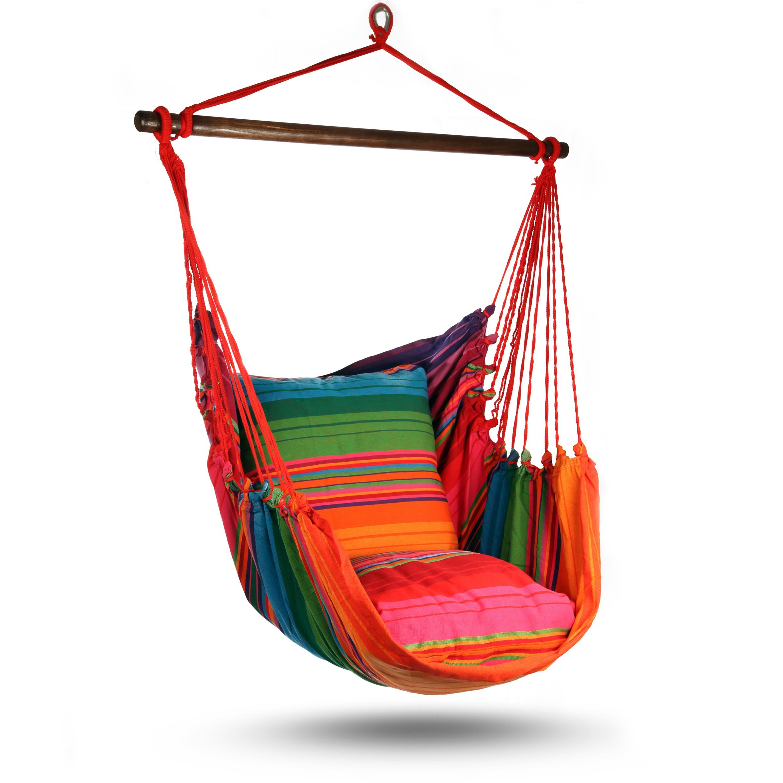 h ngesitz h ngesessel h ngestuhl h ngeschaukel h ngematte medio xl mit 2 kissen ebay. Black Bedroom Furniture Sets. Home Design Ideas