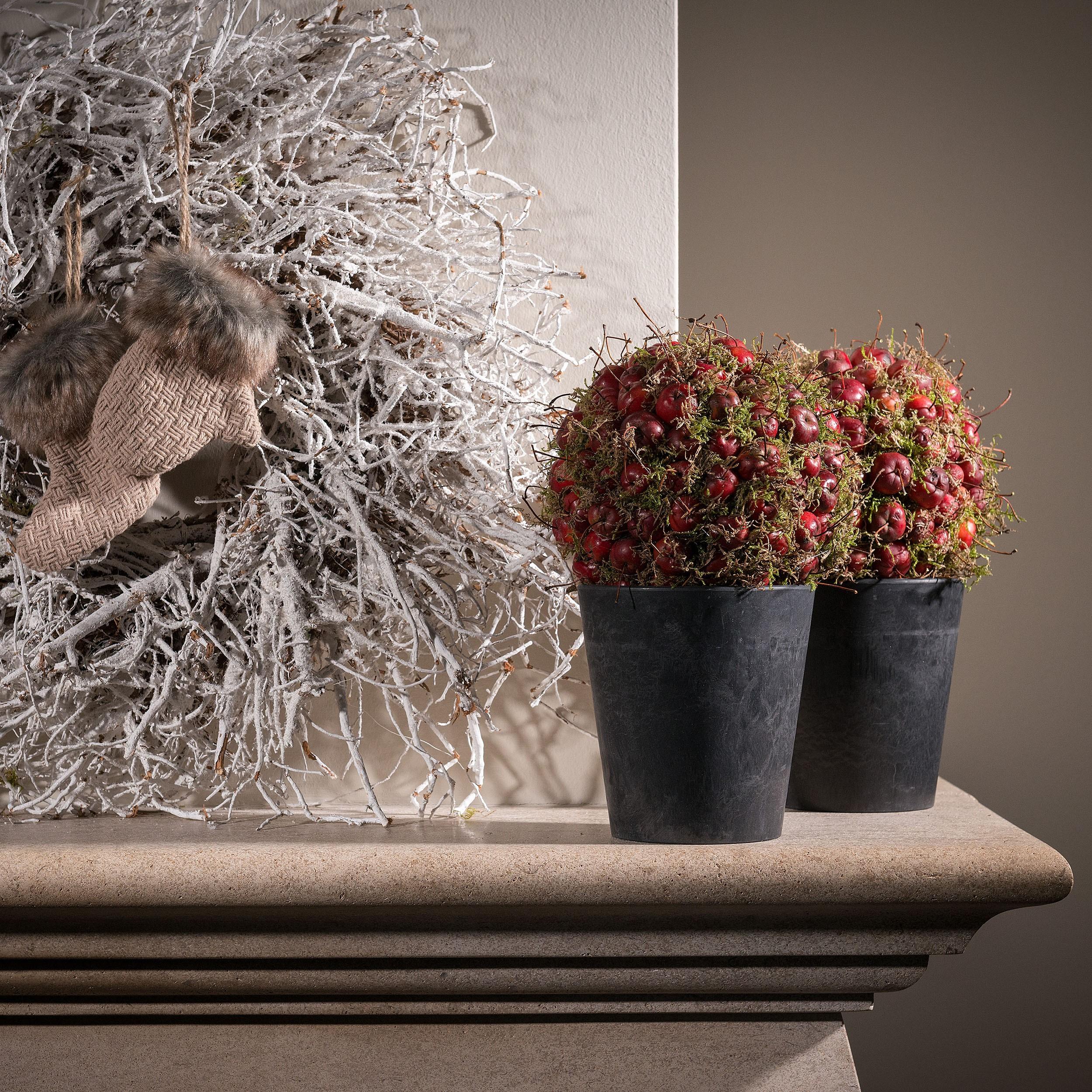 artstone-blumentopf-claire-13cm-schwarz-weihnachtdeko Elegantes Blumentopf Durchmesser 50 Cm Dekorationen