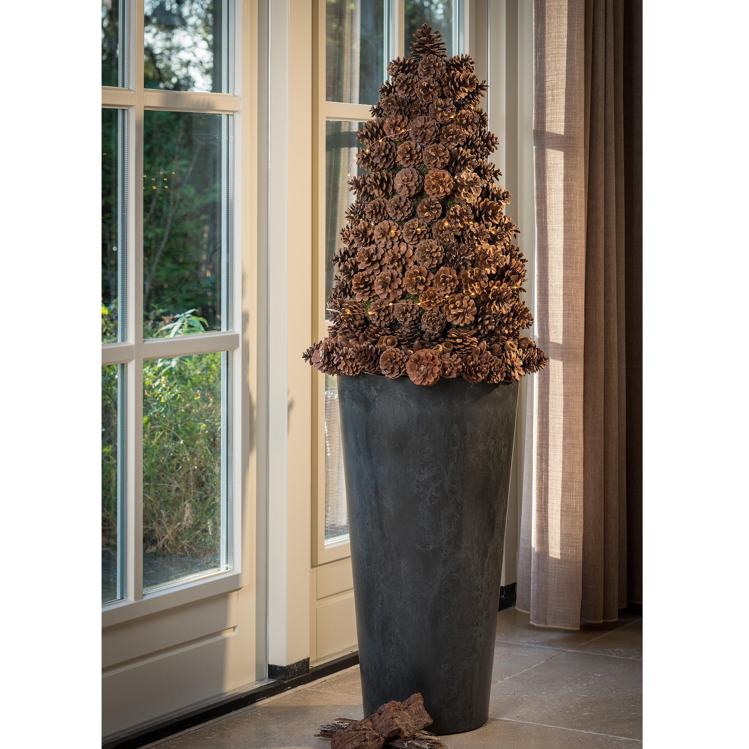 Pflanzs ule claire h70cm farbe schwarz h he 70 cm for Weihnachtsdeko schwarz