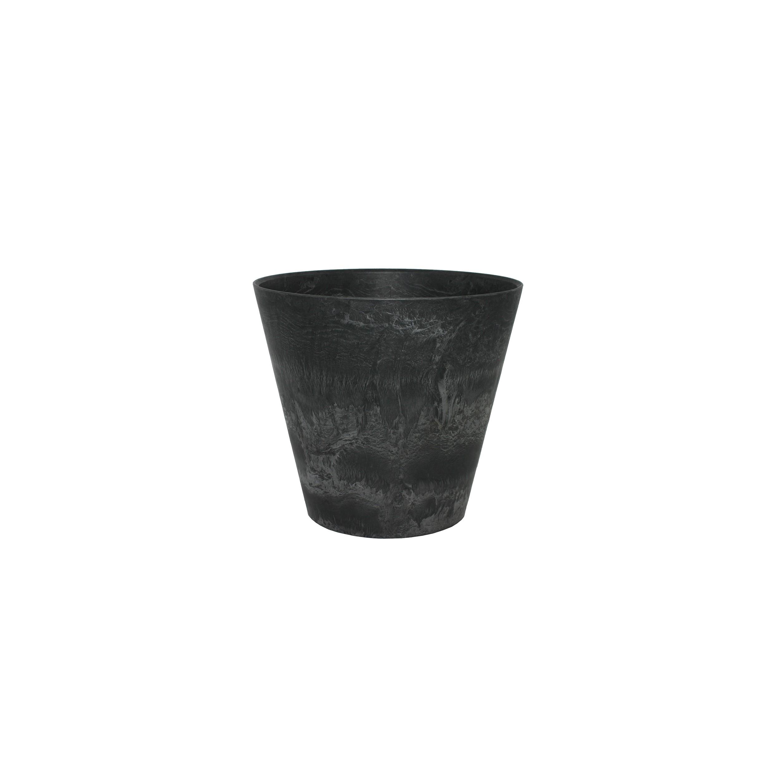 artstone-blumentopf-claire-17cm-schwarz Elegantes Blumentopf Durchmesser 50 Cm Dekorationen