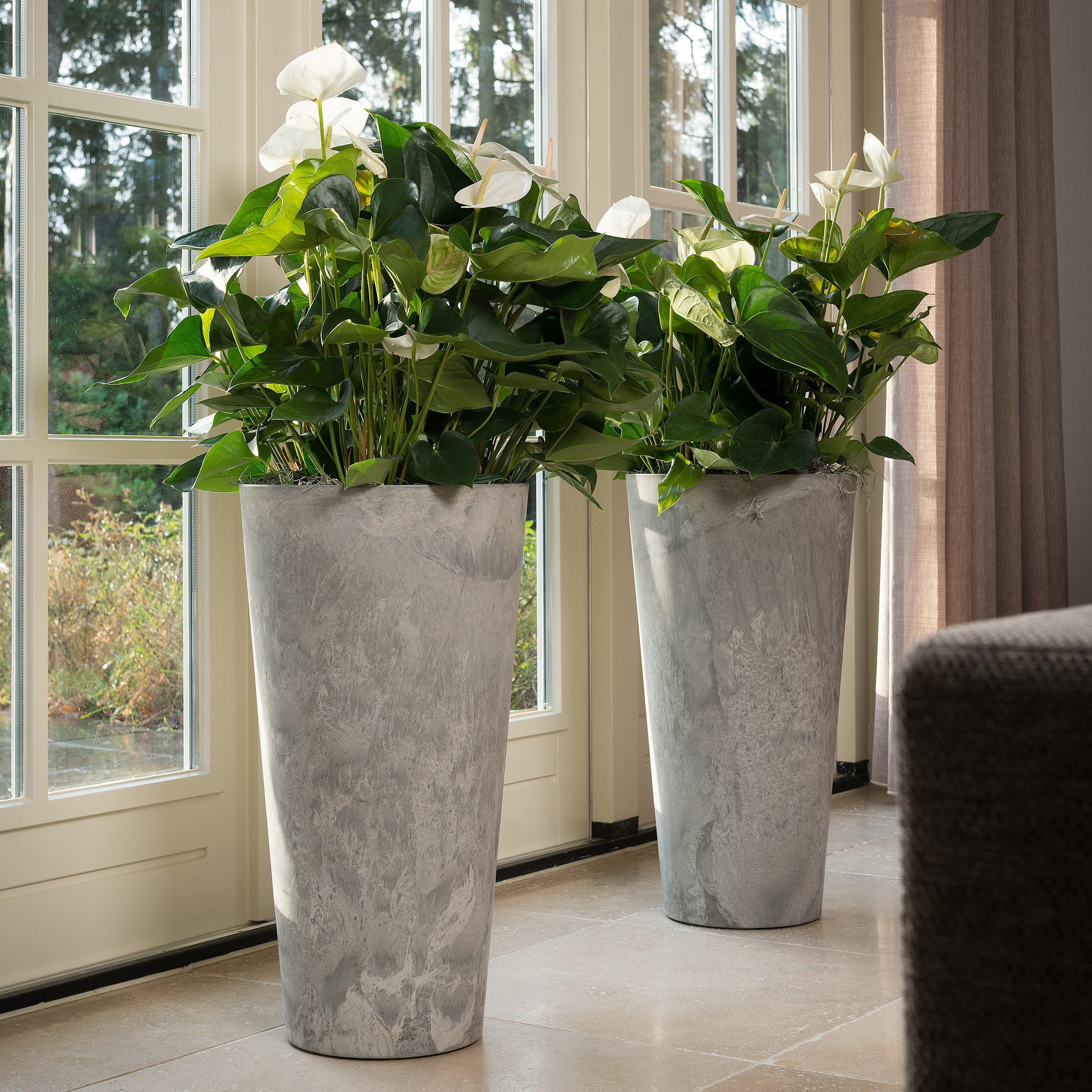 pflanzs ule claire h70cm farbe grau h he 70 cm. Black Bedroom Furniture Sets. Home Design Ideas