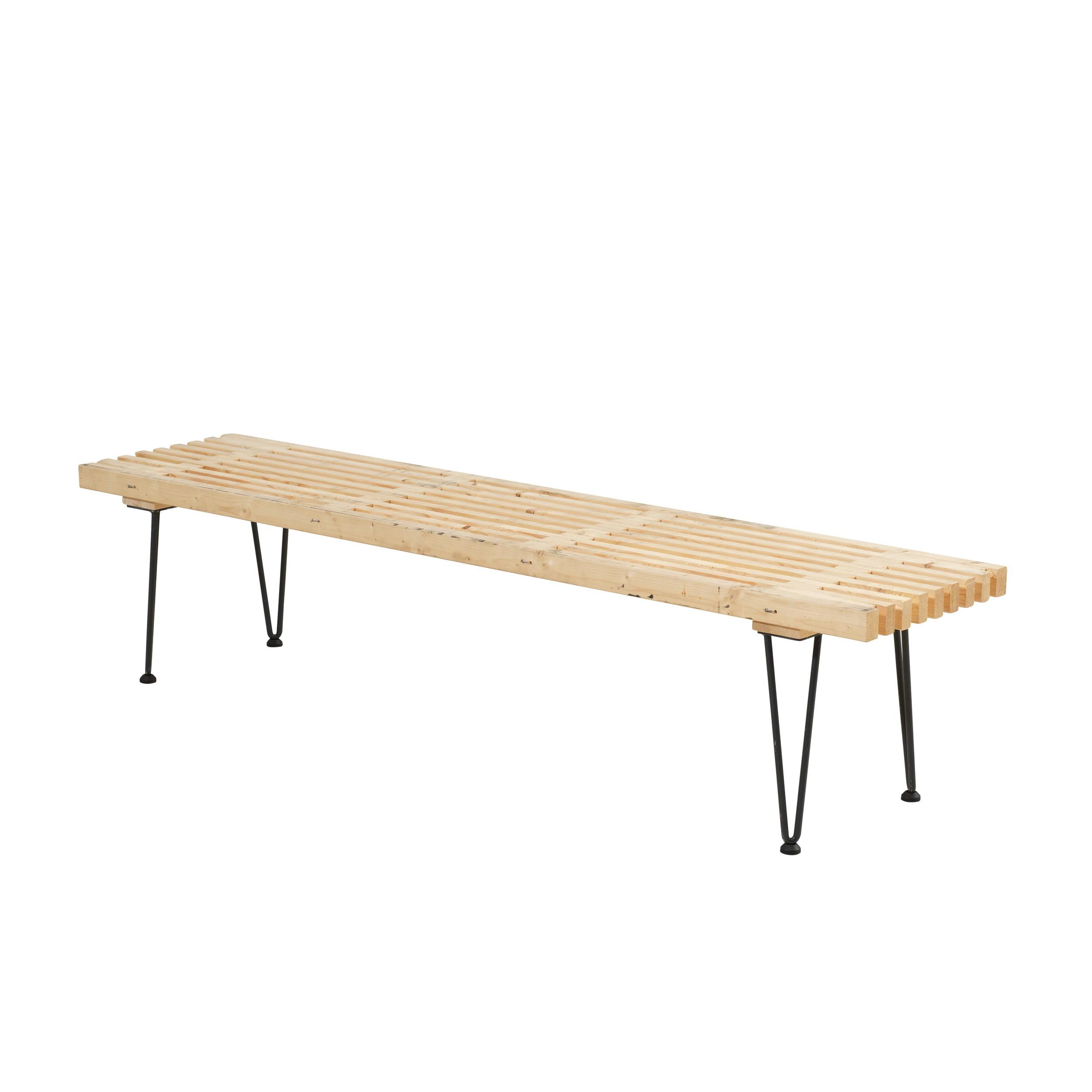 plus dk retro lattenbank gro ebay. Black Bedroom Furniture Sets. Home Design Ideas