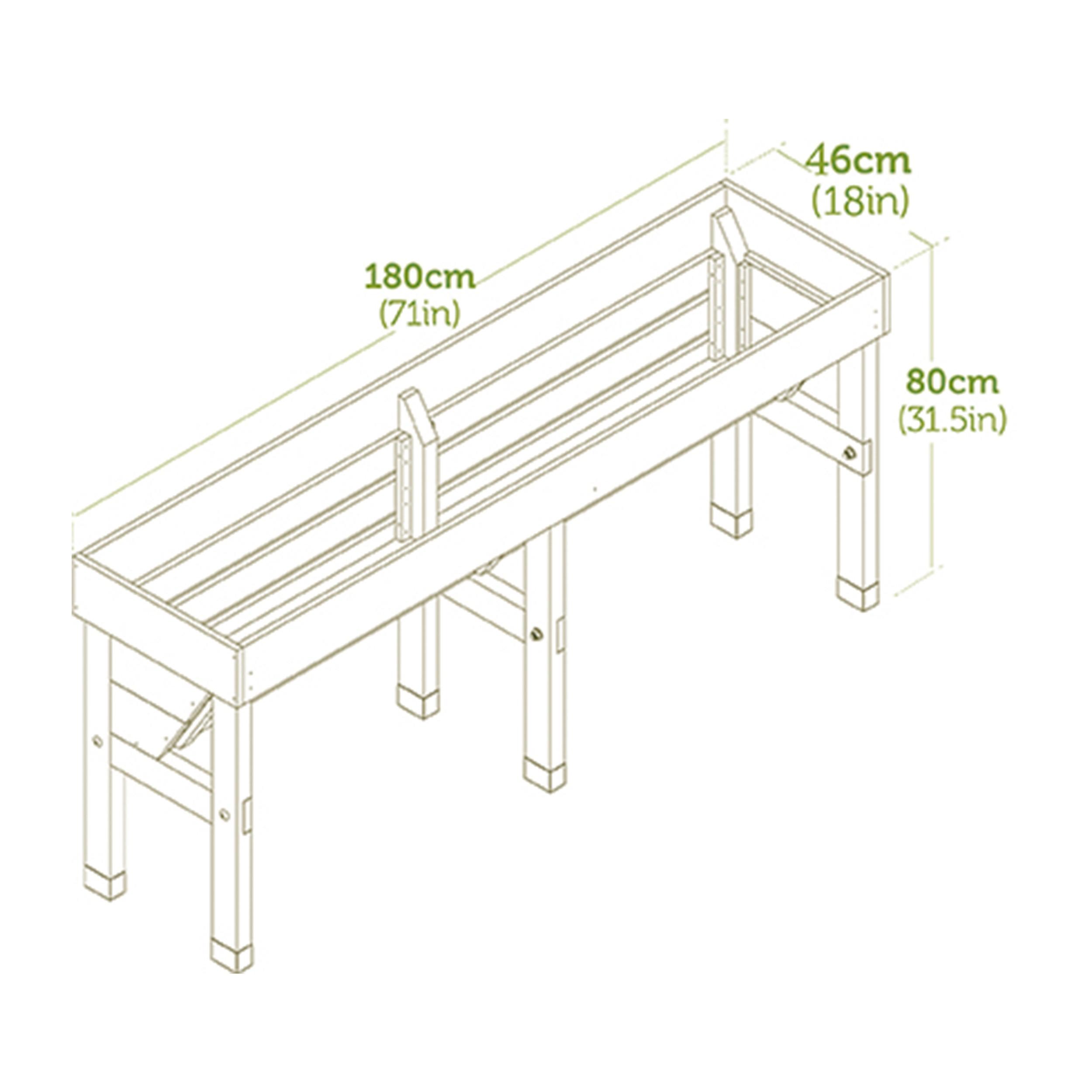 Balkon Hochbeet Vegtrug Wall Hugger Medium L180cm