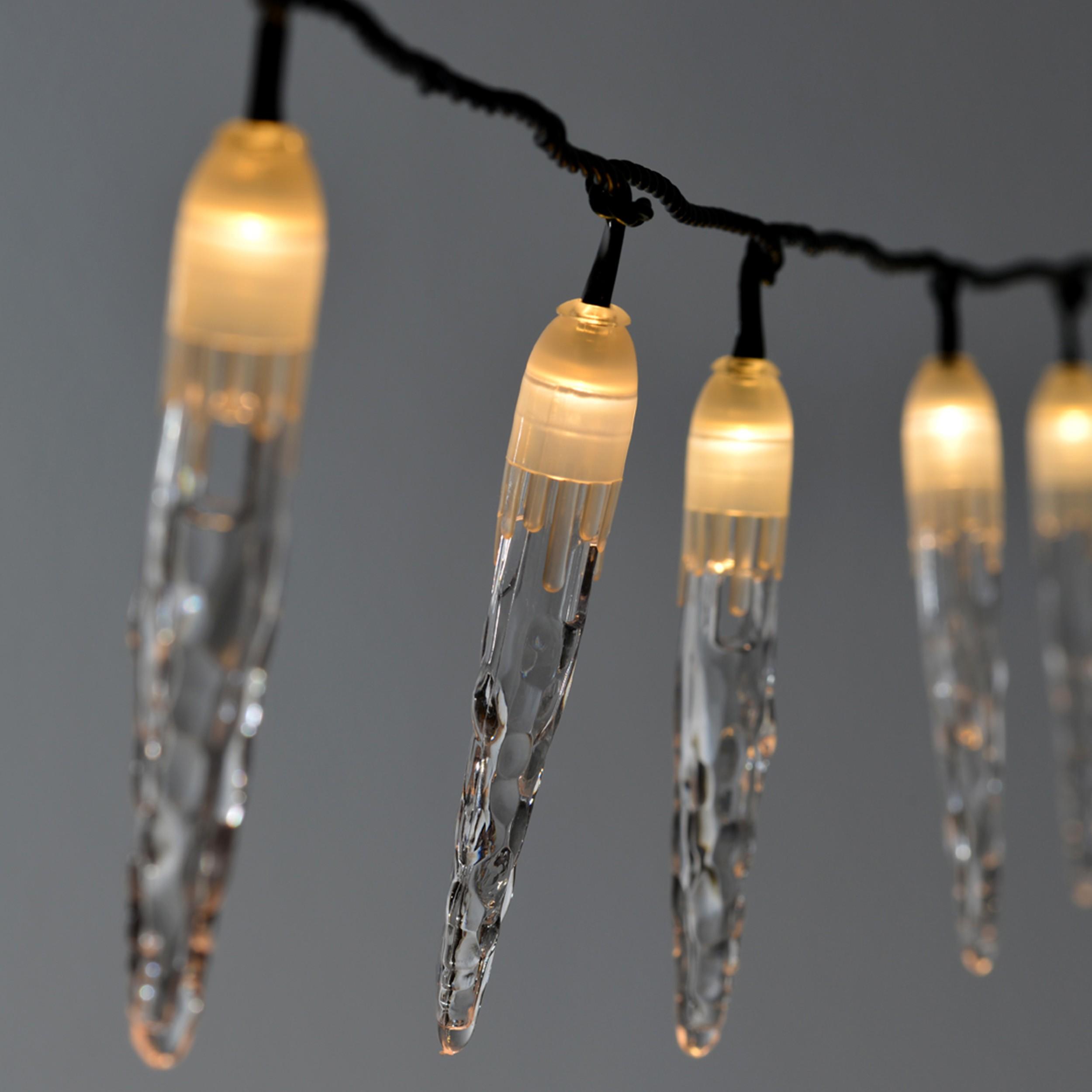 lichterkette eiszapfen 20 led weihnachten winter au en ebay. Black Bedroom Furniture Sets. Home Design Ideas