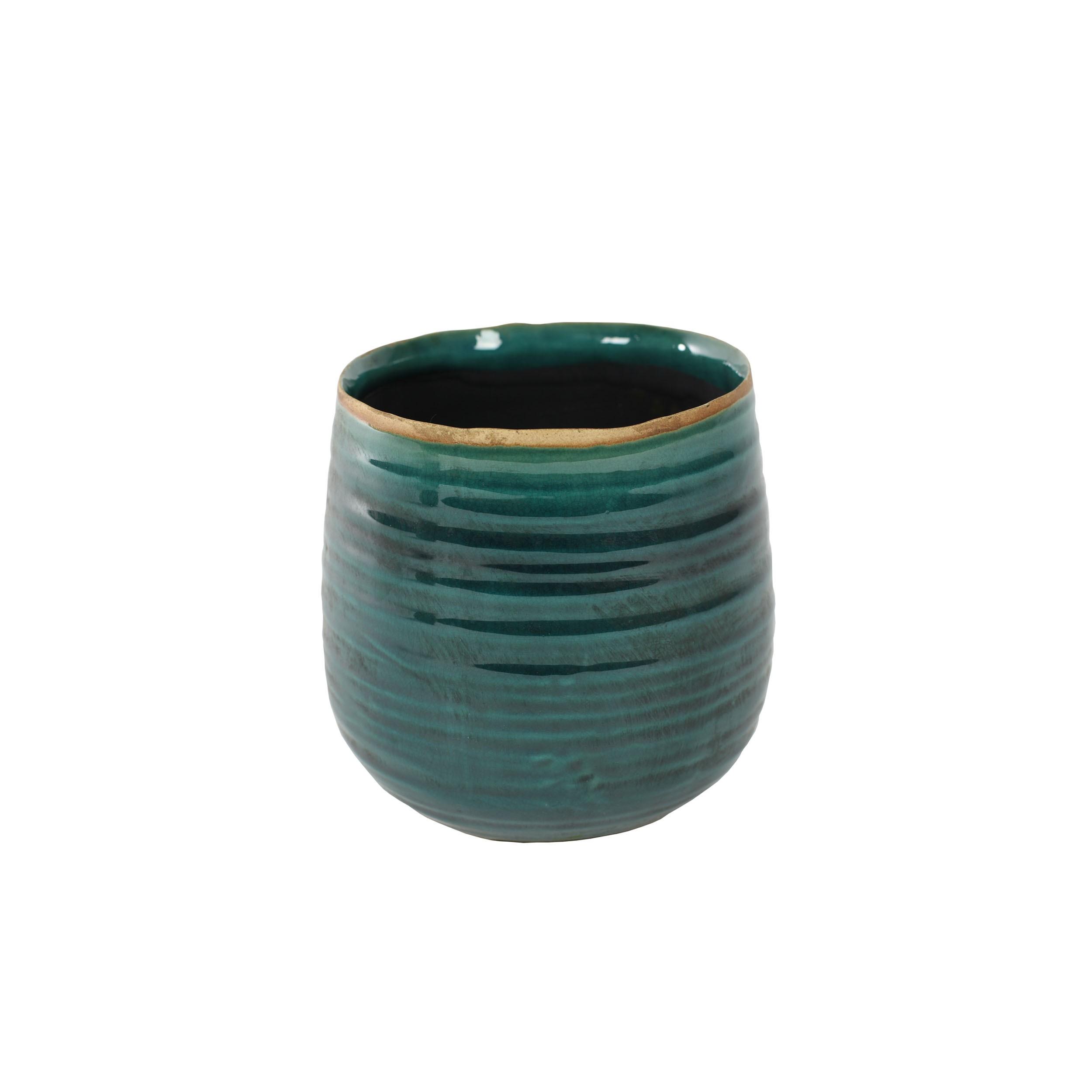blumentopf keramik 14cm bertopf pflanztopf rund glasiert indoor ebay. Black Bedroom Furniture Sets. Home Design Ideas