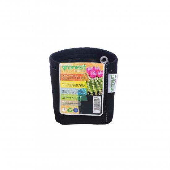 Gronest Stoff-Blumentopf  1 Liter Farbe schwarz Pflanztopf Blumentopf