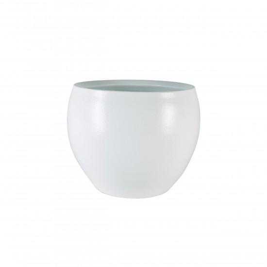 Keramik Blumentopf Cresta D28cm weiß