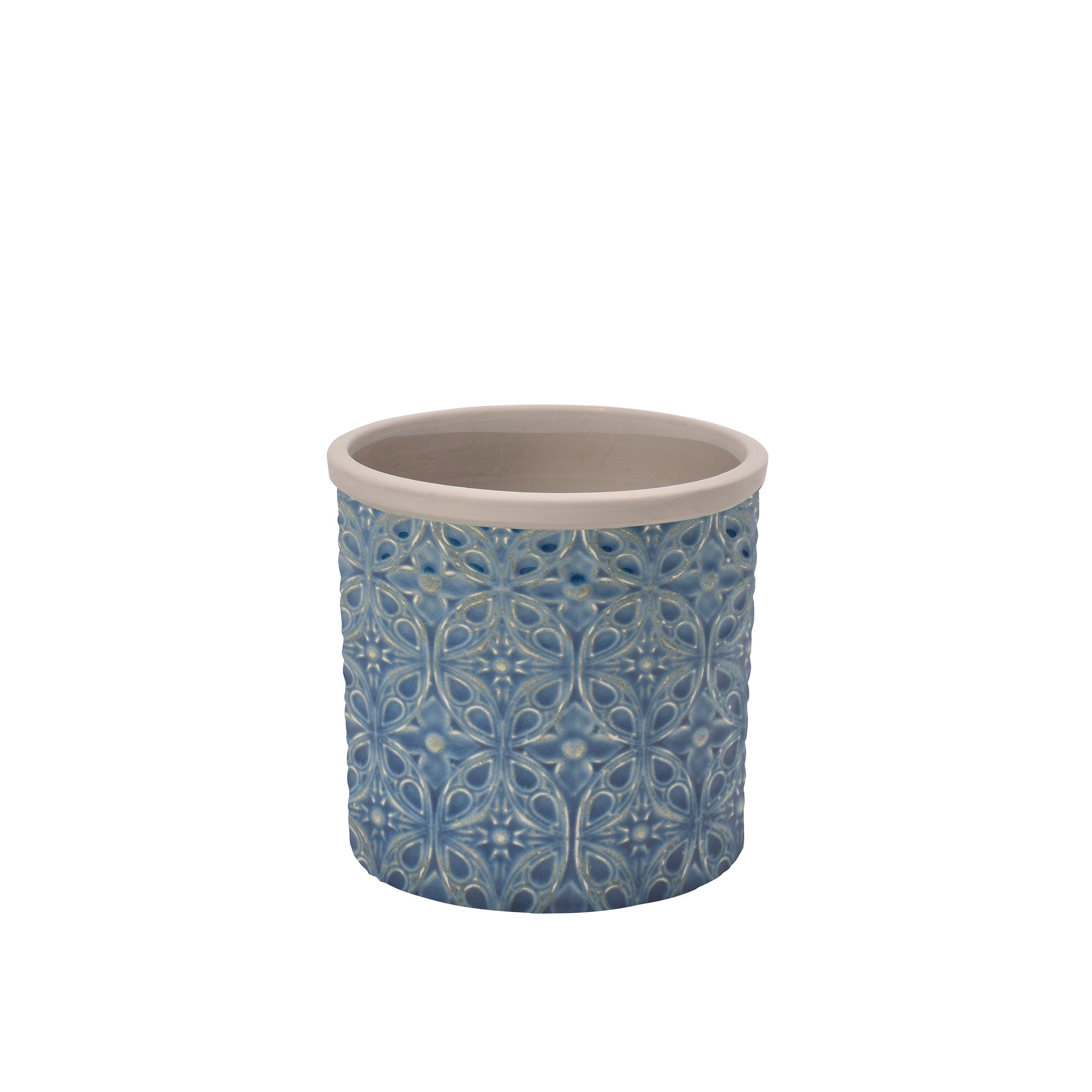 Blumentopf porto keramik 14cm bertopf pflanztopf rund for Blumentopf keramik
