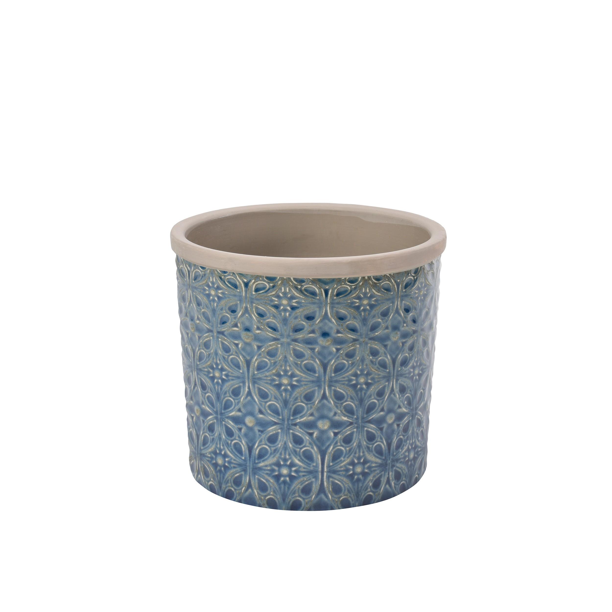Blumentopf porto keramik 16cm bertopf pflanztopf rund for Blumentopf keramik
