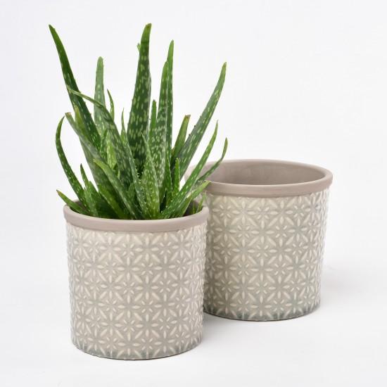 burgon and ball keramik blumentopf tuscany sand d14cm