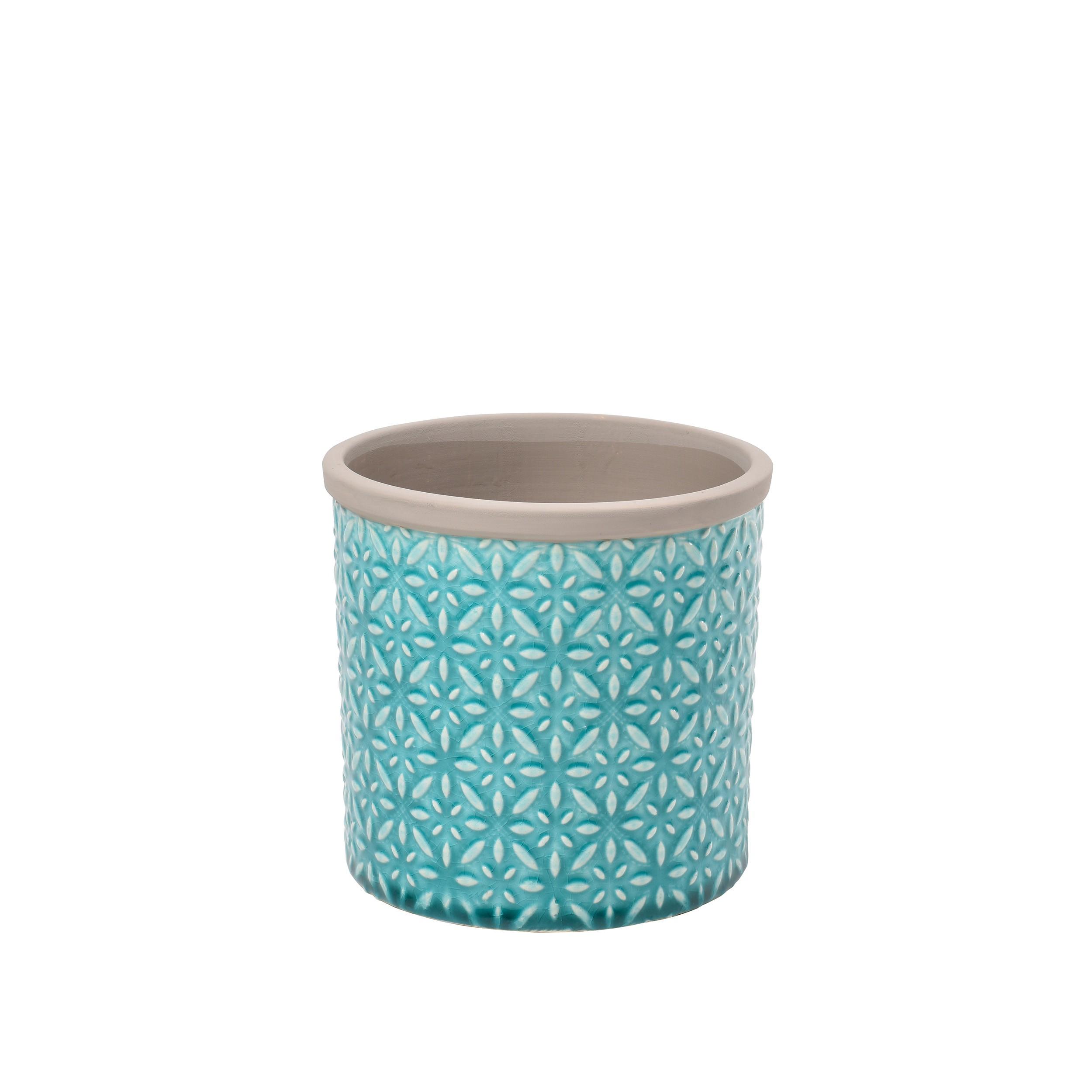 Übertopf Keramik Türkis keramik blumentopf tuscany d14cm
