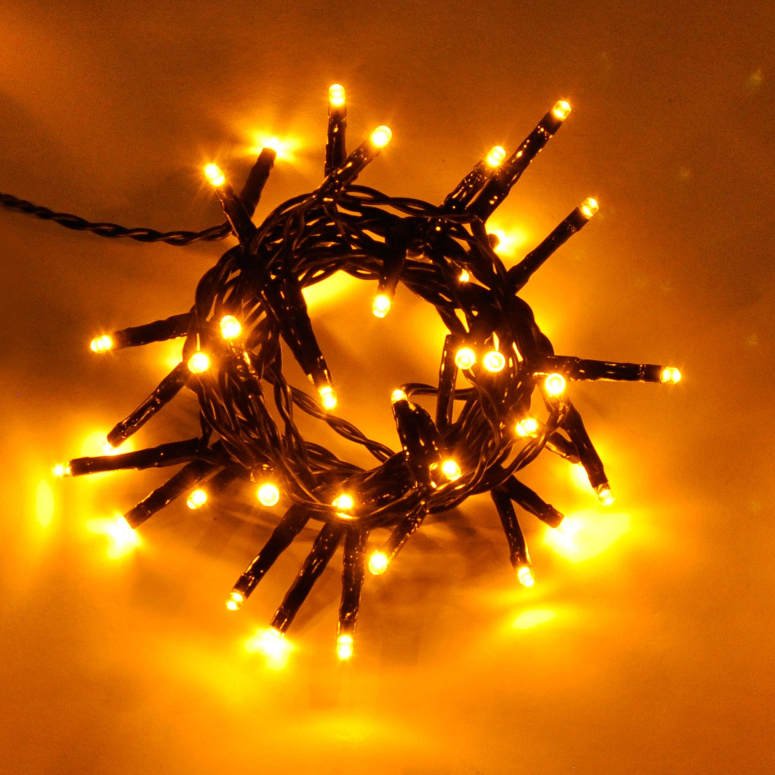 LED Lichterkette Weihnachtsbeleuchtung Outdoor golden-warm-weiß 40 ...