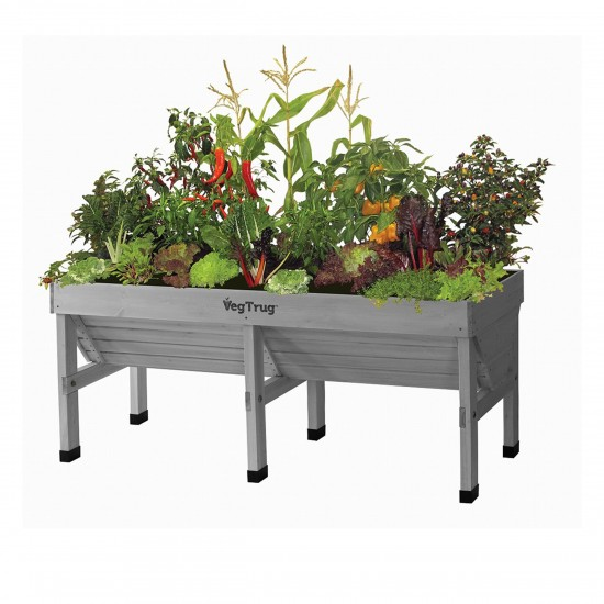 vegtrug holzhochbeet medium 180cm grey wash