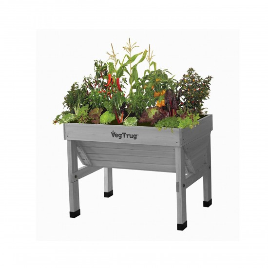 vegtrug holzhochbeet small 100cm grey wash
