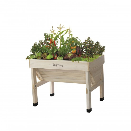 vegtrug holzhochbeet small 100cm white wash