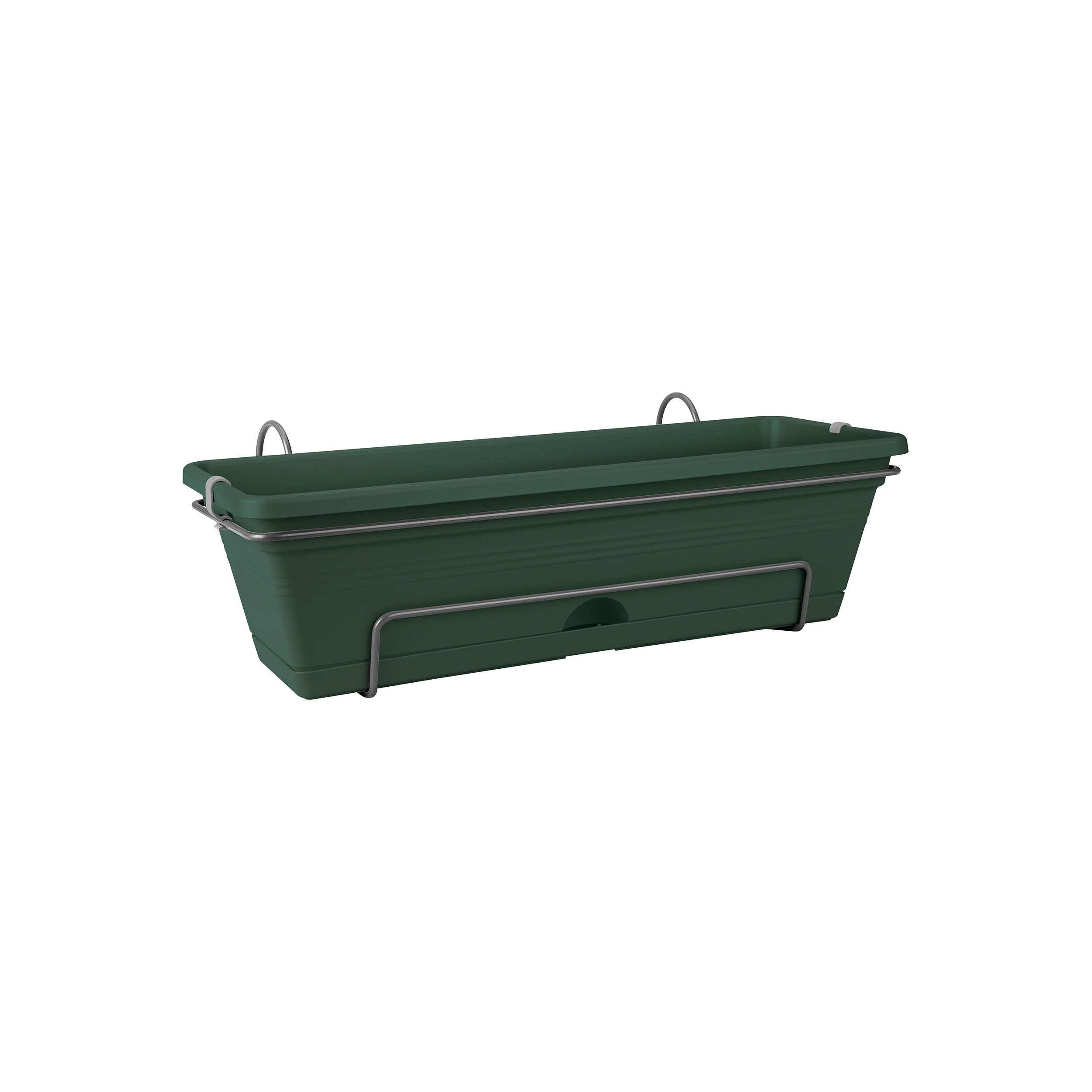 elho blumenkasten set green basics trough all in one l nge 50cm mit halterung ebay. Black Bedroom Furniture Sets. Home Design Ideas
