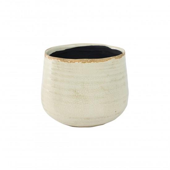 ts indoor blumentopf keramik iris beige 18cm