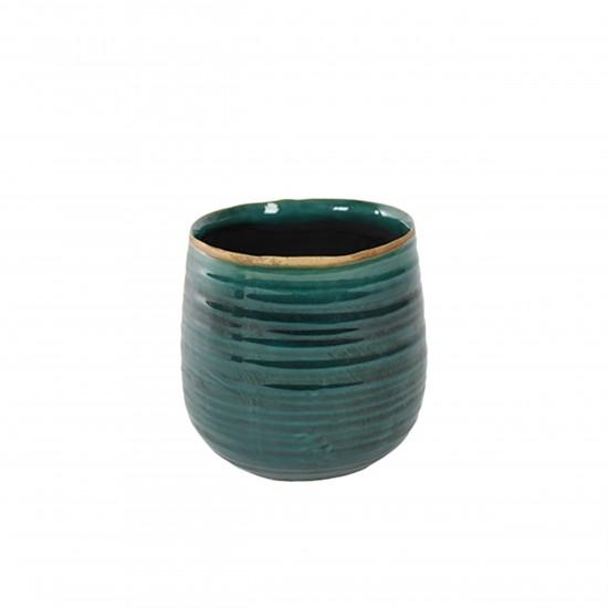 ts indoor blumentopf keramik iris tuerkis 14cm