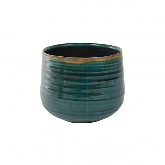 ts indoor blumentopf keramik iris tuerkis 18cm