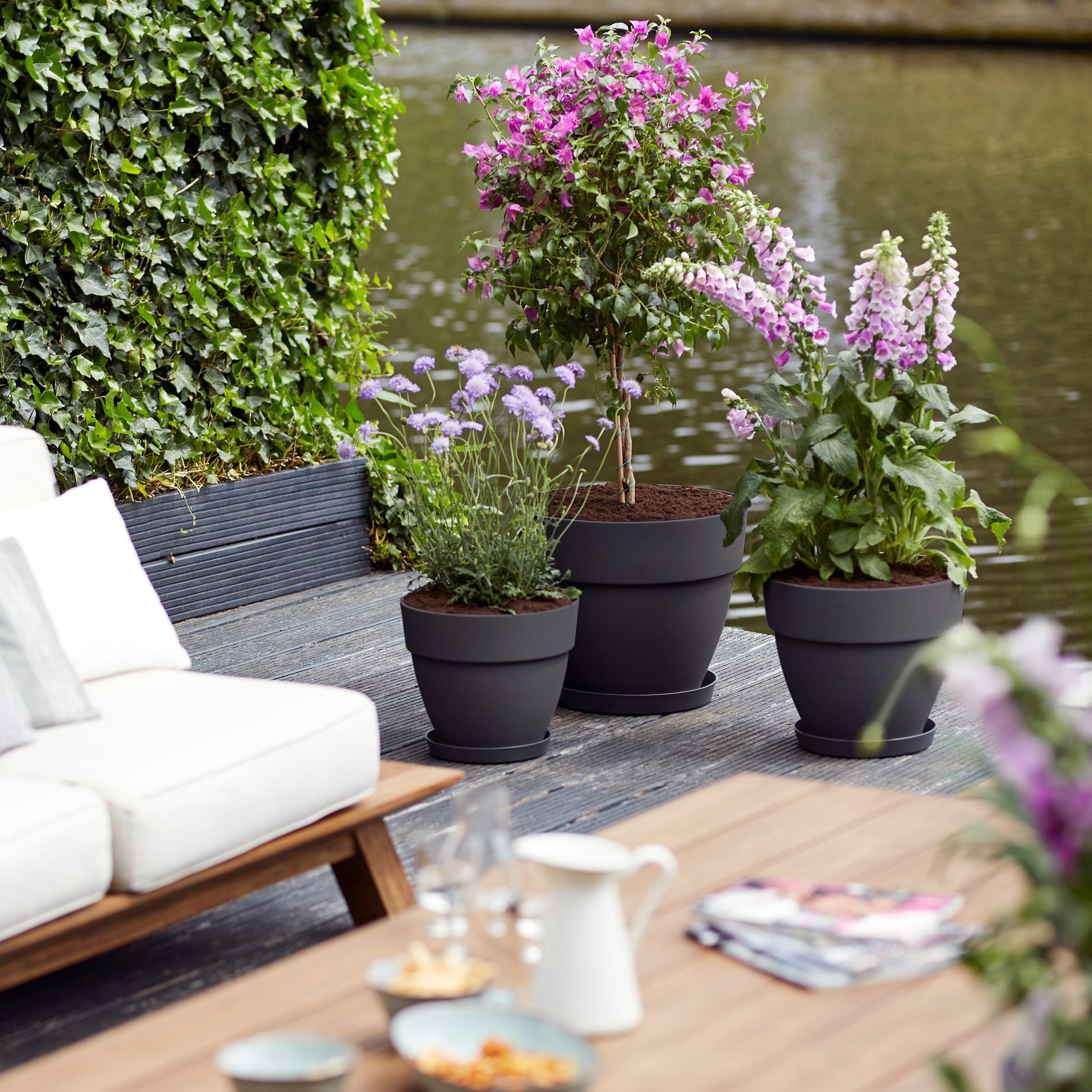 Pflanzzubehor Elho Blumentopf Vibia Campana Rund D30 Cm Durchmesser 30 Cm Garten Terrasse Hsdsonline Com